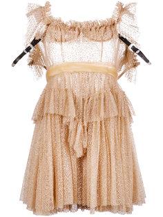 прозрачное платье с оборками Dsquared2