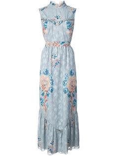 платье макси с цветочным принтом Anna Sui