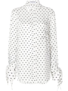 рубашка с принтом и логотипом BB Balenciaga