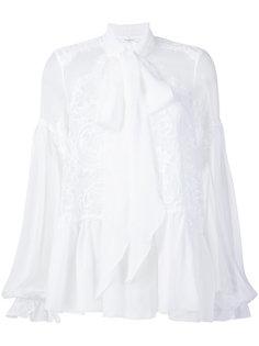 расклешенная блузка с кружевом Givenchy