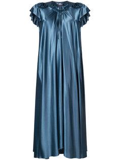шелковое платье с рюшами Balenciaga