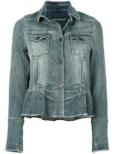 джинсовая куртка с баской Luisa Cerano
