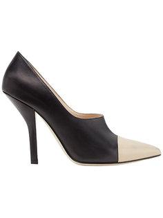 туфли-лодочки на изогнутом каблуке Fendi