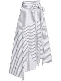 асимметричная юбка макси в полоску  JW Anderson