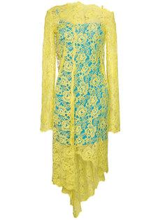 кружевное платье с асимметричным подолом  Preen By Thornton Bregazzi