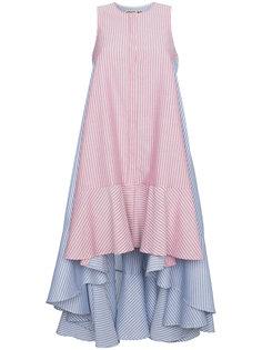 полосатое асимметричное платье миди  Jour/Né