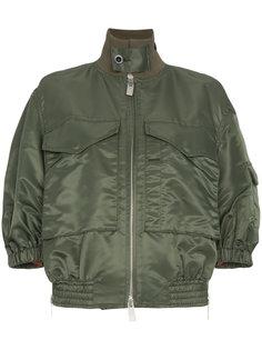 свободная куртка-бомбер с двумя карманами  Sacai