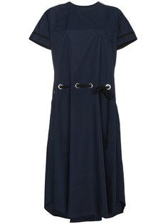 платье с короткими рукавами и карманом спереди  Sacai