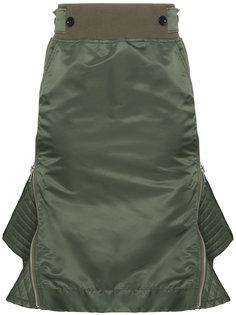 расклешенная юбка с завышенной талией  Sacai