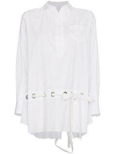 рубашка с длинными рукавами и карманом спереди  Sacai