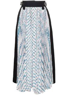 плиссированная юбка с завышенной талией  Sacai