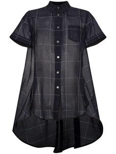 рубашка на пуговицах с короткими рукавами и принтом  Sacai