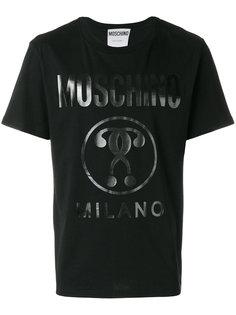 футболка с виниловым принтом Moschino