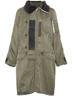 длинное пальто MA-1 Sacai