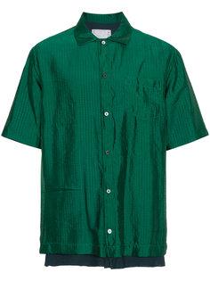 рубашка в клетку Sacai