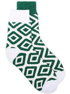носки с жаккардовым узором Sacai
