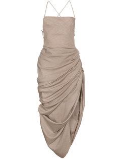 платье с драпировкой Jacquemus
