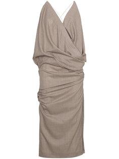 приталенное платье миди без рукавов  Jacquemus