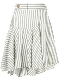 полосатая расклешенная юбка Loewe