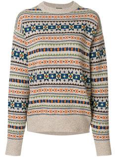 свитер с узором Fair Isle и двойной спинкой Joseph