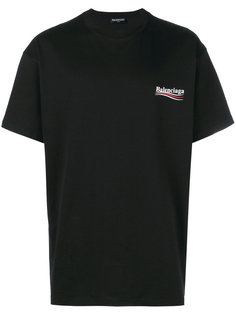 футболка Political Balenciaga