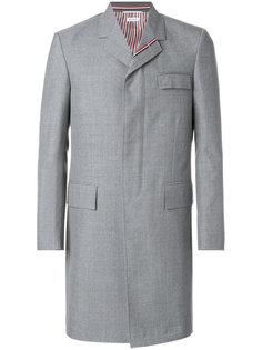 пальто средней длины кроя Chesterfield Thom Browne