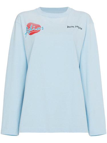 футболка свободного кроя с короткими рукавами 'Adios' Palm Angels
