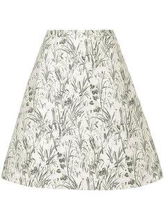 юбка с жаккардовым цветочным принтом Giambattista Valli