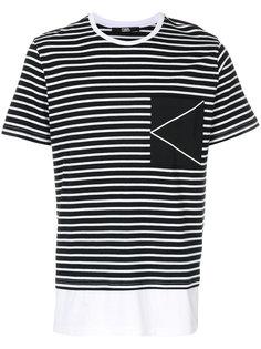 футболка в полоску с логотипом K Karl Lagerfeld