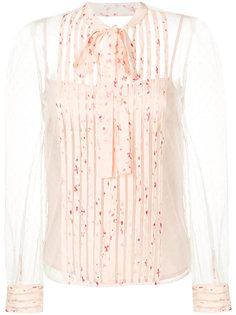 прозрачная блузка с завязкой на бант Red Valentino