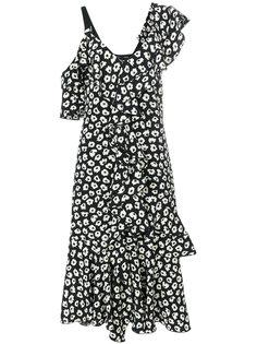 платье миди с рюшами Proenza Schouler
