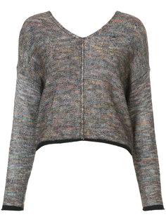 свитер из окрашенной в разные цвета пряжи Raquel Allegra