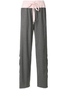широкие брюки со шнурком  Cédric Charlier