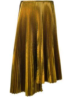 асимметричная юбка плиссе  Cédric Charlier
