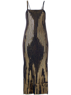 длинное платье в рубчик  Cédric Charlier