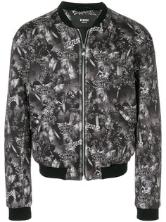 куртка-бомбер с тропическим принтом Versus