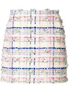 твидовая юбка в клетку  Thom Browne