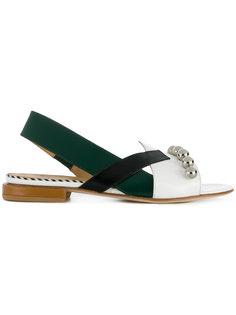 asymmetric sling-back sandals Toga Pulla