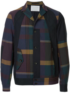 plaid bomber jacket Kolor
