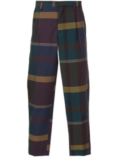 plaid tailored trousers Kolor