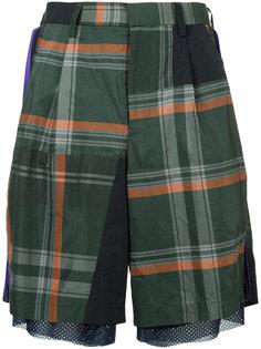 mesh tartan shorts   Kolor
