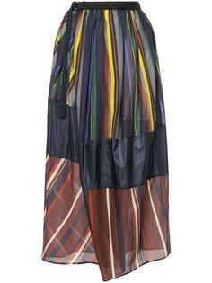 юбка макси в полоску с запахом Kolor