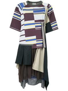 многослойное платье-футболка Kolor