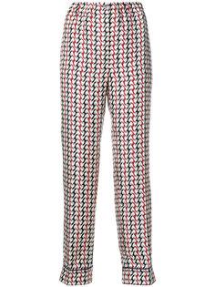 брюки с абстрактным узором Prada
