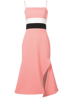 платье-миди с контрастными вставками Christian Siriano