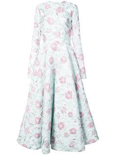 платье с расклешенной юбкой и цветочным узором Christian Siriano