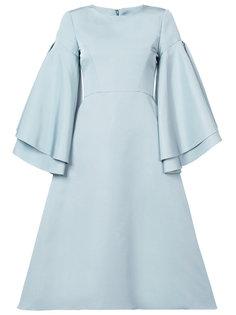 платье с расклешенными рукавами Christian Siriano