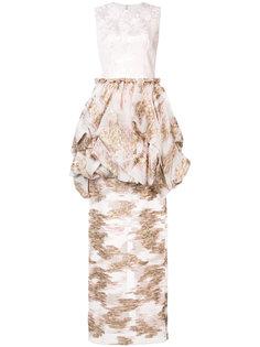 узкая юбка с жаккардовым узором Christian Siriano
