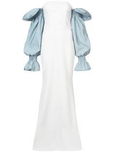 вечернее платье с контрастными рукавами Christian Siriano