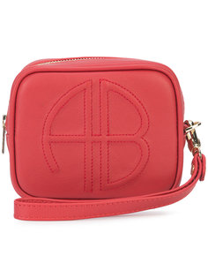 кошелек на молнии с логотипом Anine Bing